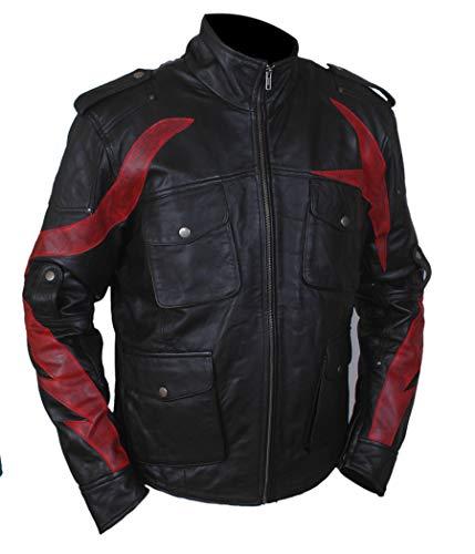 F&H Men's Prototype 2 James Heller Alex Mercer Genuine Leather Jacket 2XL Black