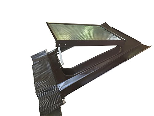 Lucernario Vetro Retinato Sicurezza- 45x60 cm - Acciaio - Testa di moro - Modello per Sottotetto non abitato - Adatto per tutti i tipi di coperture - JVU
