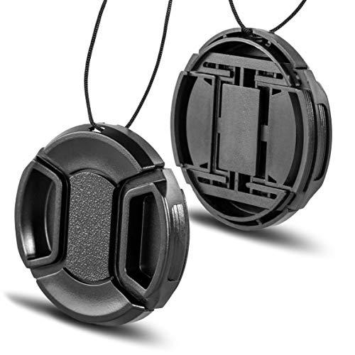 Phot-R 40.5mm Tappo coprilente copriobiettivo con cavo di sicurezza, copertura protettiva a scatto per Canon, Nikon e Sony DSLR e obiettivi per fotocamere senza specchio.