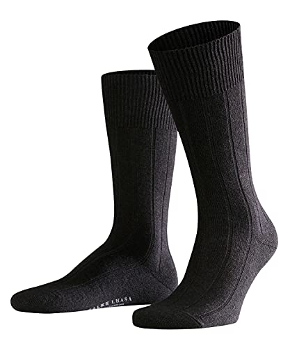 FALKE Herren Socken Lhasa Rib, Merinowolle Kaschmir, 1 Paar, Schwarz (Black 3000), 43-46 (UK 8.5-11 Ι US 9.5-12)
