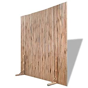 Festnight Divisor de Espacios Panel de Valla Bambú en Interiores y Al Aire Libre,Se Puede Adaptar a Casi Cualquier Forma,Color Natural 180x180cm