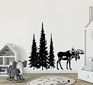 YttBuy Vinyl Removable Wall Stickers Mural Decal Simple Man Lyrics in Guitar Wall Decal (M, Moose and Pine)