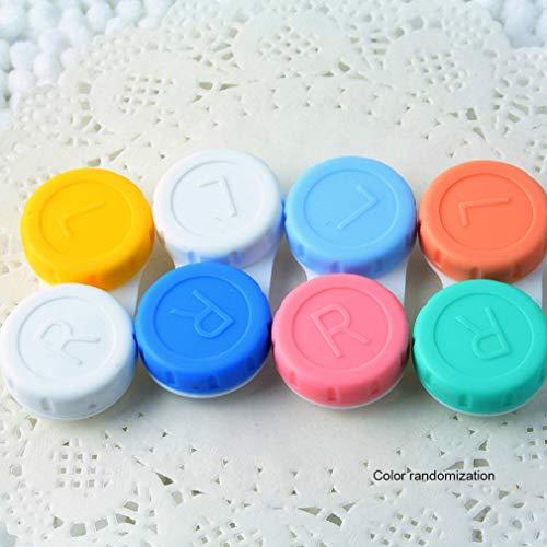 Olddreaming - Estuche para lentes de contacto, 1 estuche portátil para lentes de contacto doble, con soporte, contenedor, para el cuidado de los ojos, set de cuidado personal