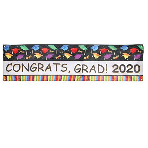 CHIFOOM Decoratieve Congrats graden 2020 banner afstudeerfeest decoraties hartelijk felicitatie graduatie foto rekwisieten slinger met kleurrijke doctorhoed voor afstuderen party
