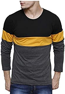 Urbano Fashion Men's Striped Slim Fit T-Shirt