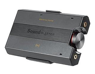 Supporto per cuffie da 600 ohm di qualità da studio DAC USB esterno compatto per P con Mac Un rapporto segnale/rumore sorprendentemente alto, pari a 120 dB, che supporta frequenze di campionamento con risoluzione fino a 24 bit/192 kHz. Sound Blaster ...