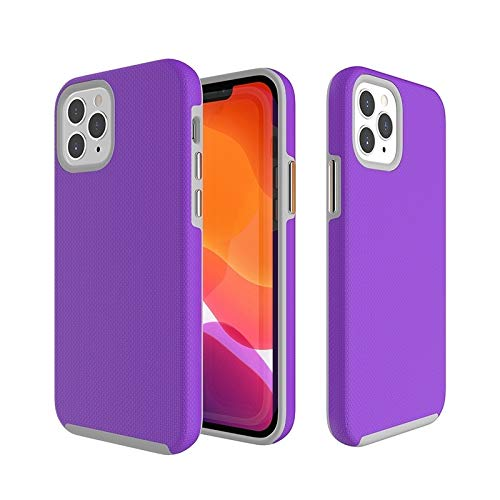 Dmtrab para Funda Protectora Antideslizante TPU + PC for iPhone 12 Pro MAX (Color : Purple)
