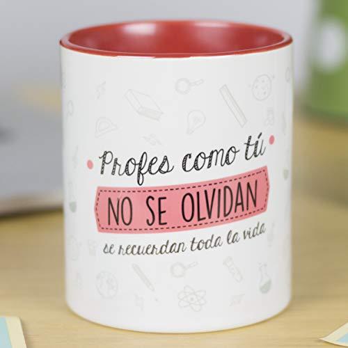 La Mente es Maravillosa - Taza frase y dibujo divertido (Profes como tú no se...