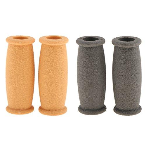 2 Pairs Soft Rubber Crutch Hand Grip Cover/Walker Hand Grip Covers Pad Cushion Anti Silp Crutch Handle Pads Mobility Aid Hand Cushion