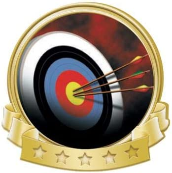Crown Awards Archery Banner Pins Pin Time sale Max 51% OFF Gold