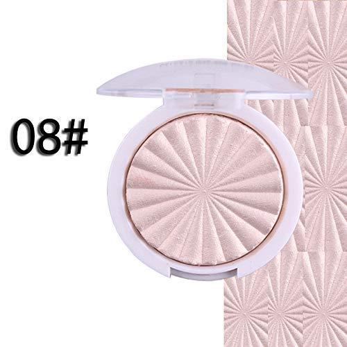 Miss Rose Glow Kit illuminator Base makeup Shimmer Powder Highlighter palette shade 08