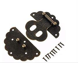 Nologo SSB-DAKOU, 1 stuks antieke opbergdoos voor sleutels, decoratief, lade, juwelenkistje van hout, koffer, slot, met sc...