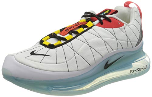 Nike Mx-720-818, Zapatillas para Correr Hombre, White Black Speed Yellow Chile Red Bleached Aqua, 44 EU