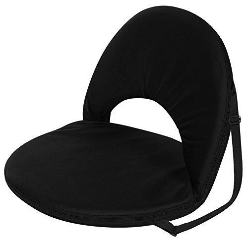 Trademark Innovations Portable Multiuse Adjustable Recliner Stadium Seat (Black)