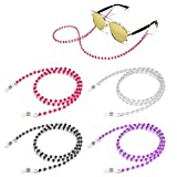 BILIONE Beaded Eeyglass Chains, 4 Pcs Stylish Glasses Lanyard for Women, Eye Glasses Holder String Cords for Most Sunglasses, Daily Glasses and Reading Glasses