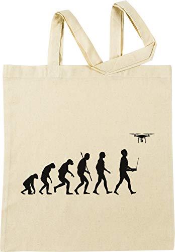 Evolution Von Mann - Drohne Pilot Auflage Grau Beige Einkaufstasche