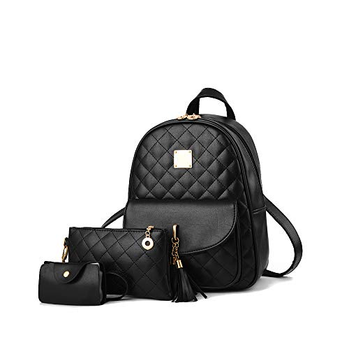 Lindo cuero de la PU mini mochila casual impermeable bolsa de viaje Daypacks pequeño monedero para adolescentes y mujeres - -