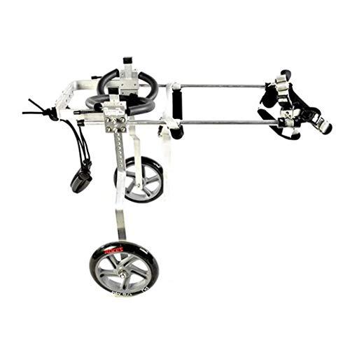 HYRGLIZI Mobility Pet Scooter, Asistente de Paseo para Mascotas paralizado con discapacidad de extremidades traseras, Carrito Ajustable para Silla de Ruedas para Perros y Gatos, Coche de Ejercicio ul