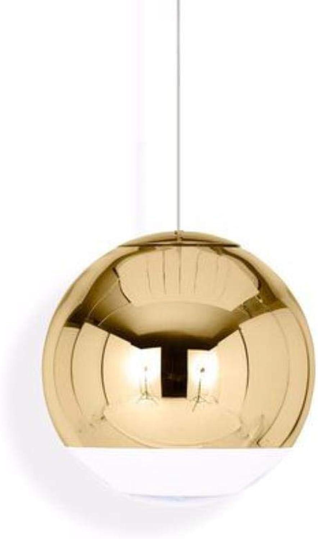 Nordic Pendelleuchten Globus Glas Pendelleuchten Chrom Spiegelkugel Hngelampe Modern Home LightingKüchenpendelleuchte, Gold, 200mm