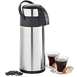 top 10 thermal air pot VonShef Thermal Airpot Carafe Coffee Dispenser, Stainless Steel, Large, 5l or 170fl.
