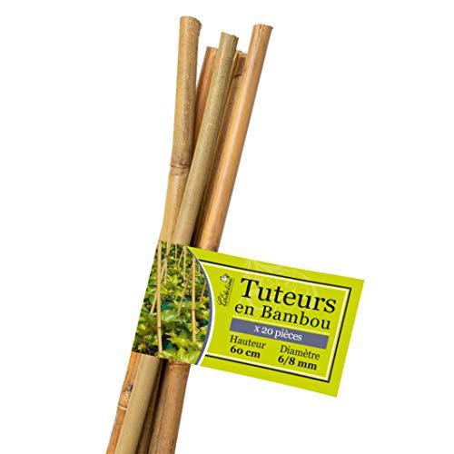 La Cordeline LTB60-20 Rankhilfe aus Bambus, naturfarben, 20 Stück