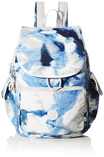Kipling Damen City Pack Rucksack, Mehrfarbig (Tie Dye Blue), 32x37x18.5 cm