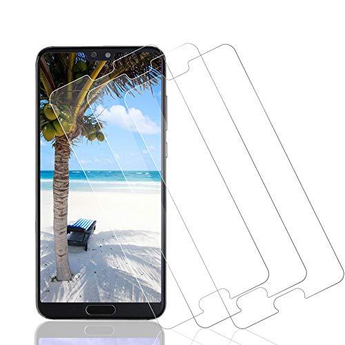 Wiestoung Protecteur d'écran en Verre Trempé pour Huawei P20 pro, [2.5D Bord] [Anti-Rayures] [sans Bulles][Transparent HD ] Film Protection écran Vitre pour Huawei P20 pro-3 Pièces