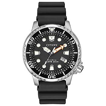 Citizen Eco-Drive Promaster Diver Quartz Mens Watch Stainless Steel with Polyurethane strap Black  Model  BN0150-28E