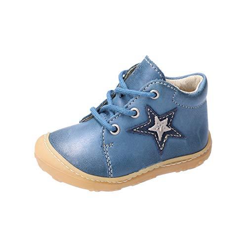 RICOSTA Jungen Lauflern Schuhe Romy von Pepino, Weite: Mittel (WMS), schnürschuh schnürstiefelchen flexibel leicht Kinder,Jeans,19 EU / 3 Child UK