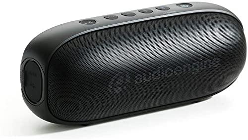 Audioengine 512 Tragbare Bluetooth Lautsprecher   Audiophile Qualitäts-Bluetooth Speaker für zu Hause und unterwegs   Bluetooth Lautsprecher Boxen & 3,5 mm-Eingänge   3 Jahre Garantie (schwarz)