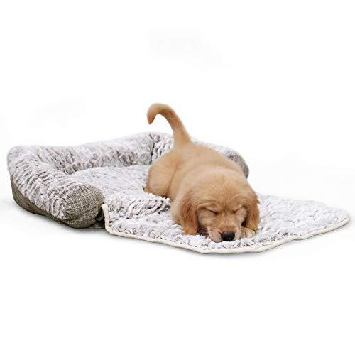 PAWZ Road, cuscino 3 in 1 per cani, cuscino, divano e letto pieghevole per animali domestici. Lavabile. Cesto con federa. Cuscino imbottito multifunzionale, da divano, per cani e gatti. Colore: grigio