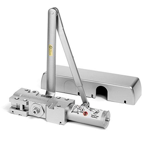 Dynasty Hardware 4401-ALUM Surface Mount Heavy Duty Commercial Door Closer, Sprayed Aluminum