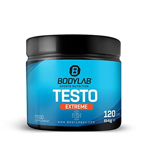 Bodylab24 Testo Extreme 120 Kapseln, Kombination aus Bockshornklee-, Tribulus Terrestris und Ashwaghandha-Extrakt, Vitaminen und Zink, Booster in Kapselform, ideal in intensiven Trainingsphasen