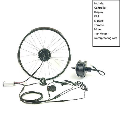 GGD Accesorios de la Bicicleta eléctrica Kit E-Bici Kit de la Rueda Trasera de Cassette Motor 36V350W Kit de conversión de la Bici eléctrica con Pantalla KT LED900S,26inch LED 900s