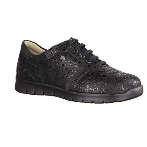 Finn Comfort Biscaya Rock (schwarz) - Schnürschuh mit Loser Einlage - Damenschuhe Bequeme Schnürschuhe, Schwarz