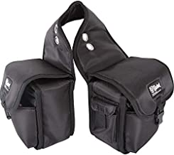 Top Quality Denier Saddle Bags, Heavy Duty Horse Trail Gear Bags with Padded Outer Pockets, Cashel Size: Medium Color: Black