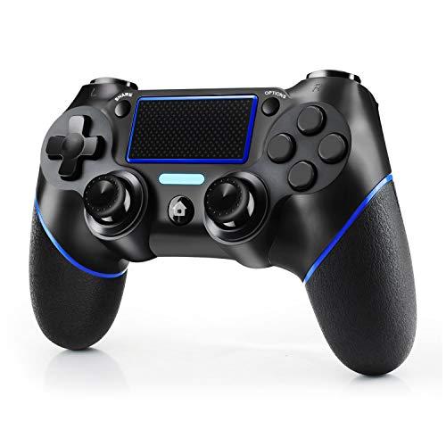 JAMSWALL Controller per Ps4, Controller Wireless per PlayStation 4 / Pro / Slim / PC, Touch Panel Game Controller con shock a doppia vibrazione a sei assi e jack audio