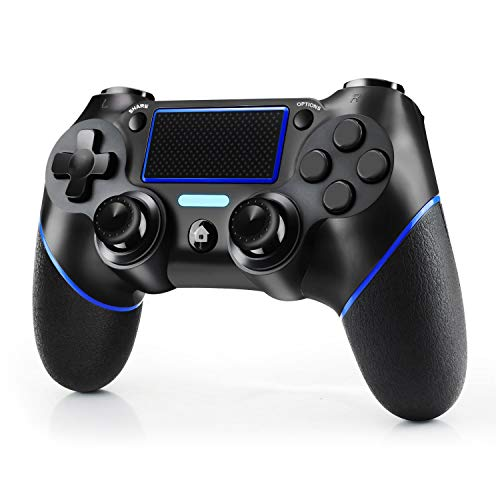 JAMSWALL Mando Inalambrico para PS4, Mando inalámbrico para PlayStation 4 / Pro / Slim / PC, Controlador de panel táctil Vibración Doble/Turbo/ Puerto de Audio Remoto
