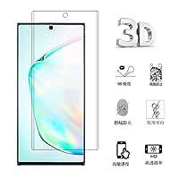 Samsung Galaxy Note10 Plus ガラスフィルム Samsung ギャラクシー Note10 Plus フィルム 専用 3D曲面 フルカバー フィルム 液晶保護フィルム 保護フィルム 全面保護 表面硬度9h 極高透過率 強化ガラス