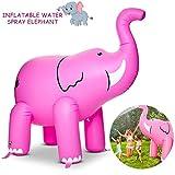 Juguete De Aspersor Grande Para Niños Y Niños Pequeños (160 Cm), Aspersores De Elefantes Inflables Para Niños Juegos De Agua Con Salpicaduras De Salpicaduras Para Jardín De Verano Al Aire Libre,Pink