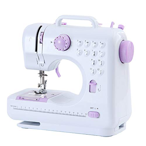 LXQ Sewing Machine Household Sewing Machine, Electric, Portable Repair Machine, Multifunctional Hand-held Sewing Tool, Suitable for Home Beginners (Size : UK)