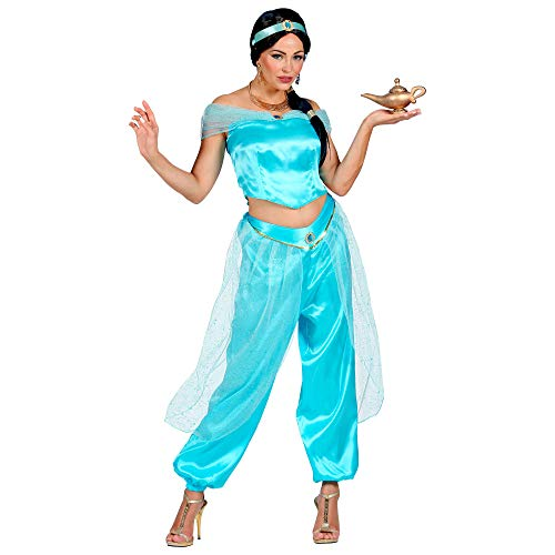 Widmann 09881 kostuum Arabische prinses, dames, blauw