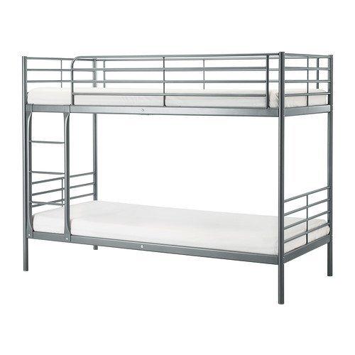 IKEA(イケア) SV?RTA 2段ベッドフレーム, シルバーカラー (90247974) (902.479.74)