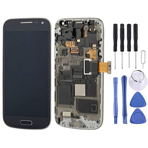 GRES Display a Cristalli liquidi Kit di Ricambio dello Schermo + Touch Panel con Telaio for Il Galaxy S IV Mini / i9195 / i9192 / i9190 (Bianco) + Repair Tool Completa (Colore : Dark Blue)