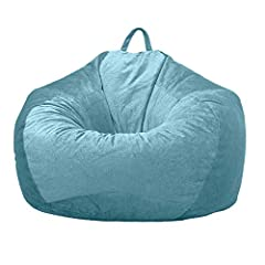 Premium Material: (No Filler) High quality fabric, thick, soft, and luxurious, built to stand the test of time. These bean bag covers are sure to be your new favorite place to chill out. Features: Premium zippers, and double stitched hand selected fa...