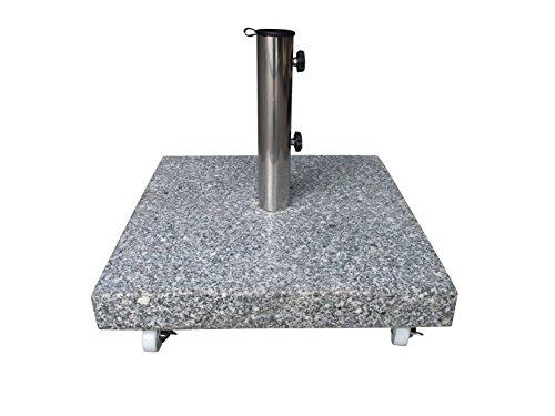 40 kg Granit Schirmständer mit XXL Rollen einzeln feststellbar