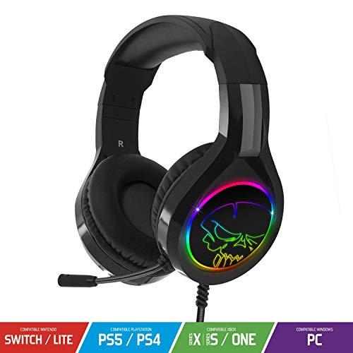 Casque Pro H8 LED Rouge Bleu Vert Rainbow pour Switch/Xbox One/PS4/PC