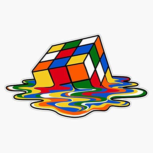Melting Rubiks Cube: Sheldon From 'The Big Bang Theory' Cool Nerdy Gift Ideas! Vinyl Waterproof Sticker Decal Car Laptop Wall Window Bumper Sticker 5