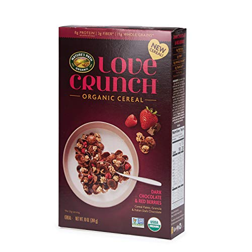 Love Crunch Organic Cereal, Dark Chocolate & Red Berries, 10 Oz box (Pack of 6), Non GMO, by Nature's Path
