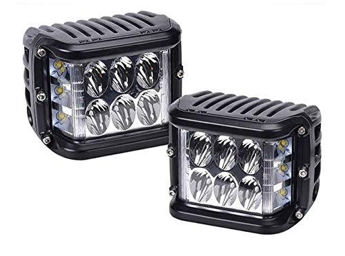 HUVE ual Side LED Cube 45W LED Lampe de Travail Off Road Lampe de Travail antibrouillard Brillant pour SUV Truck Car et Plus